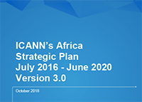 Africa | ICANN's Africa Strategic Plan | July 2016 - June 2020 | Version 3.0 | October 2018 | English
