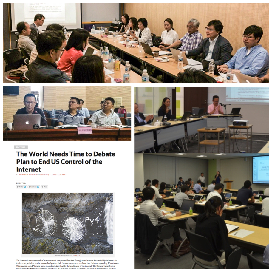 Collage of Asia Pacific community members engaging in discussion and attending presentations