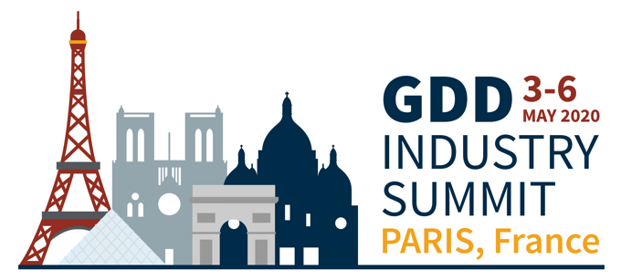 GDD Industry Summit | Paris, France | 3-6 May 2020