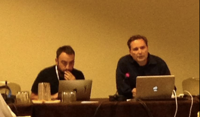 Alex Stamos from Yahoo.com and Joe Sullivan from Facebook on Tech Day at ICANN51