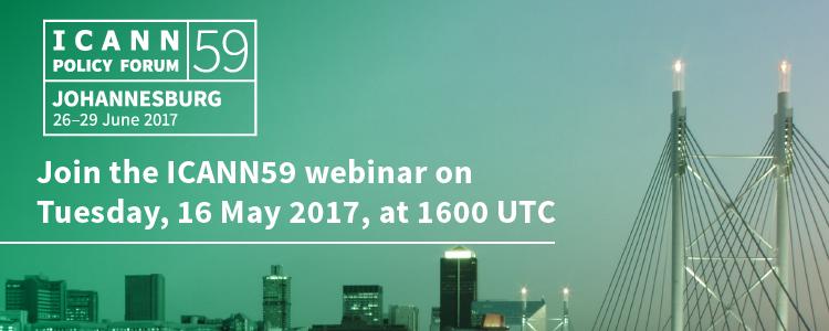 ICANN59 Community Webinar