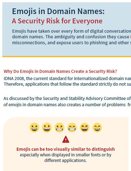 Emojis in Domain Names: A Security Risk for Everyone