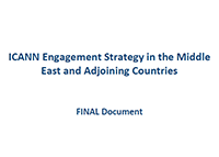 MIDDLE EAST REGIONAL REPORTS | ICANN Engagement Strategy in the Middle East and Adjoining Countries | English