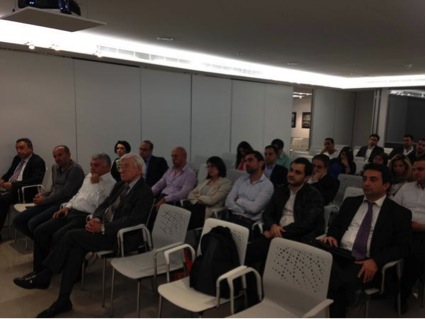 Attendees at the meeting of LINC on Beirut