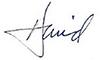 David Olive's Signature