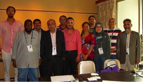 Group photo of the Task Force on Arabic Script IDNs group