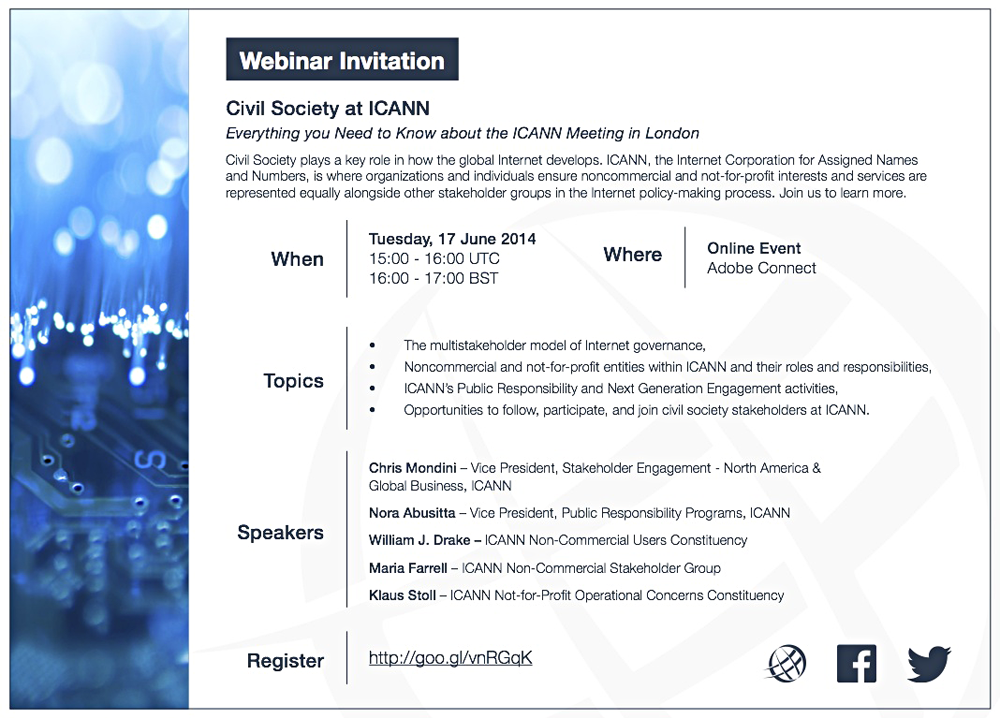 Webinar Invitation | Civil Society at ICANN: Everything you need to know about the ICANN meeting in London