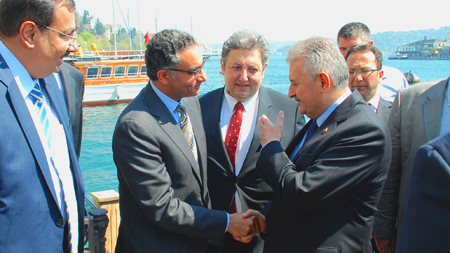 Fadi Chehadé and Turkish Minister Yıldırım