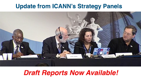 ICANN's Strategy Panelists Sit Behind a Table