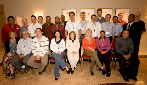 ICANN Fellows from Los Angeles meeting, 2007 (click photo for full-size image)