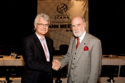 Vint Cerf hands over to Peter Dengate-Thrush