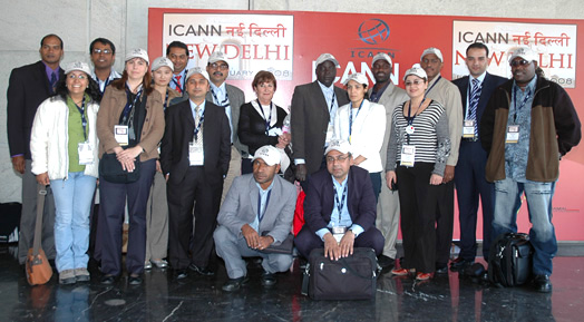 ICANN Fellows from New Delhi meeting, 2008 (click photo for full-size image)