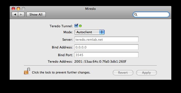 Miredo for OS X