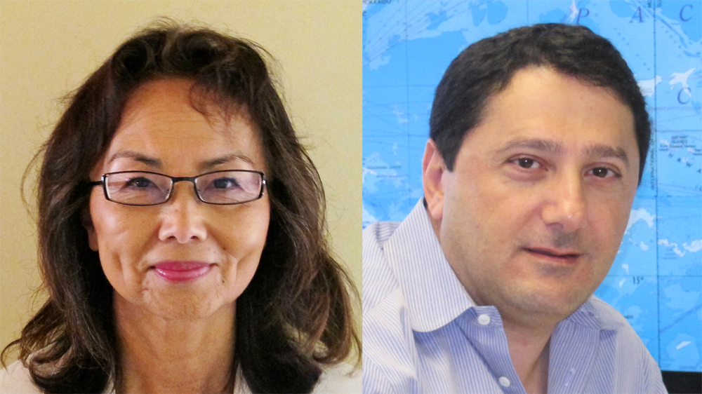 Susanna Bennett (left) and Akram Atallah (right)