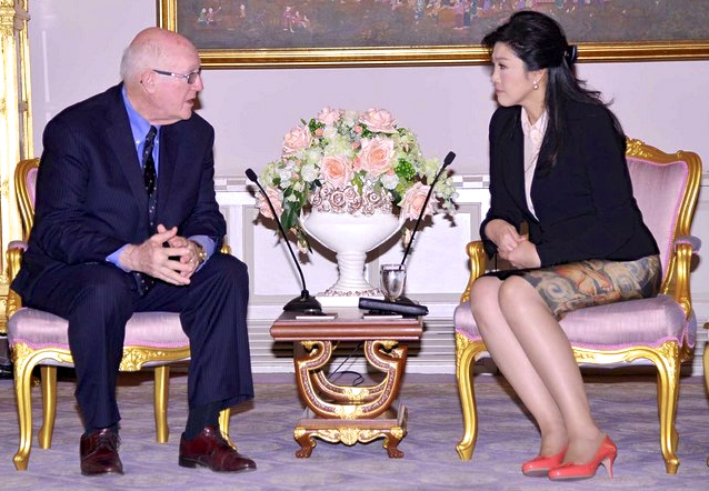 Dr. Steve Crocker Visits With Thai Prime Minister Yingluck Shinawatra In Bangkok, June 7 2013