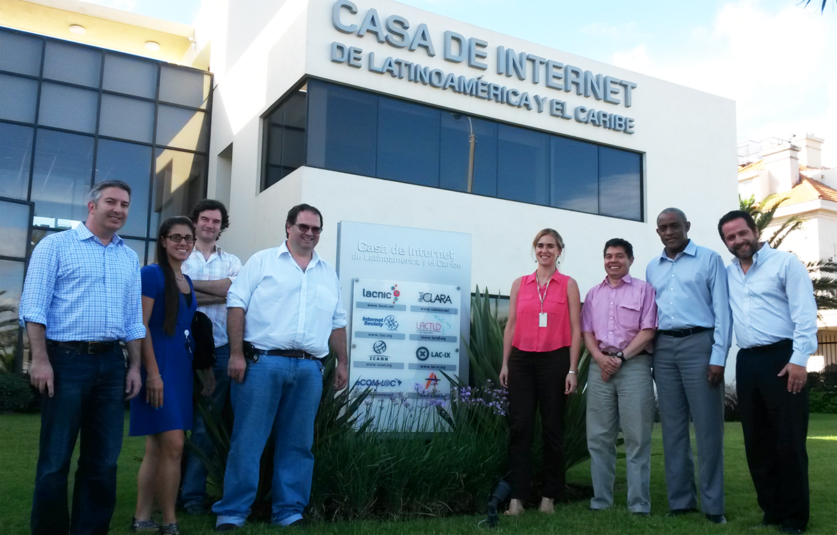 Casa de Internet in Montevideo, Uruguay with representatives from regional organizations that deal with security, stability and resiliency of the DNS - LACNIC, LACTLD, .CO Internet and the Internet Society