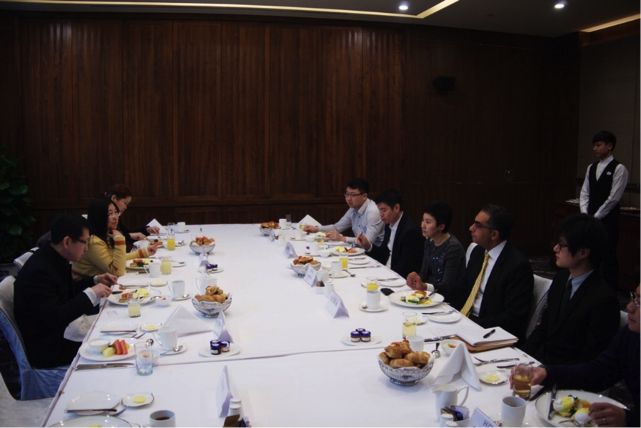 Breakfast meeting with community stakeholders in China