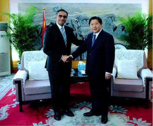 ICANN President and CEO Fadi Chehadé meeting Mr. Lu Wei, Minister of State Internet Information Office
